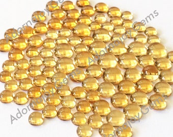 Gemstone Cabochon Citrine 6mm Round FOR ONE