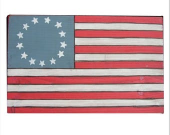 American Flag, Old Glory Wooden Poster