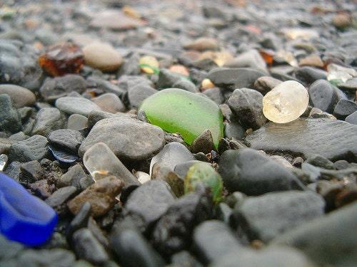 Sea glass hunting in Nova Scotia, best sea glass beaches.