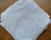 29 Denim Fabric Squares 7 1/2 x 7 1/2 Light in color for Rag Quilt Rag Rug Fabric Block Scraps for Crafting Projects