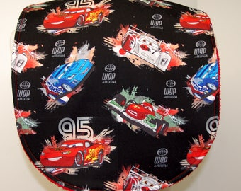 Youth/Junior Boy Bib, Special Needs, Cerebral Palsy, Drooling,Adaptive Clothing, 14-inch neck opening: Cars, Lightning McQueen