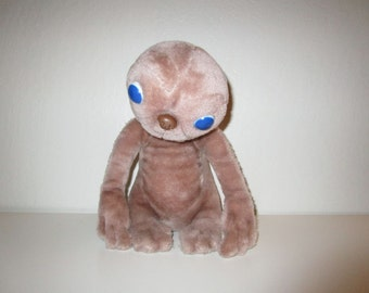 E.T. Plush Stuffed Animal E.T. Toy - Vintage 1980's - By Showtime - 11.5 inches tall
