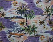 """2 yds x 60"""" HAWAIIAN Tiki vintage Aloha trade winds ocean fabric"""