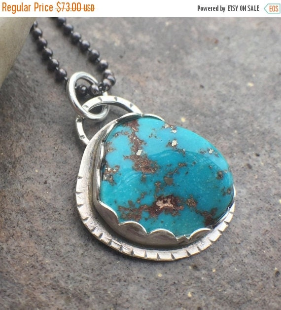 25% Off - Sterling Silver Turquoise Necklace