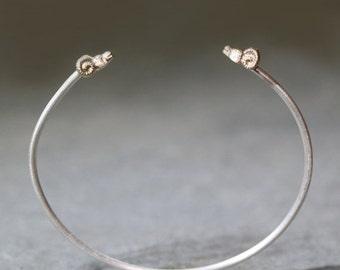 30% OFF WINTER SALE Ram Cuff Bracelet  in 14k Gold and Sterling Silver