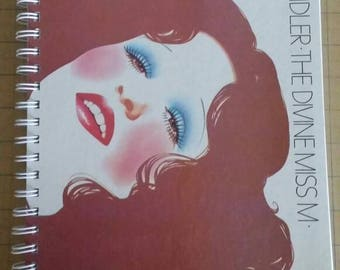 Bette Midler Recycled Record Album Cover Journal Notebook