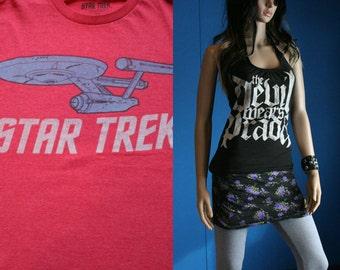 Star Trek vintage tshirt custom halter tank top Scoop neck Small