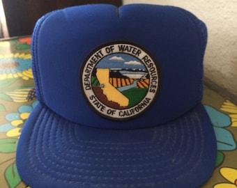 Vintage 1980's california water trucker hat.