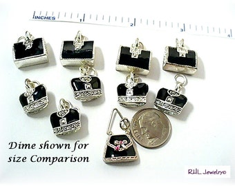 Jewelry Supplies - Crown Charms and Purse Charms - Beading Destash - S-64