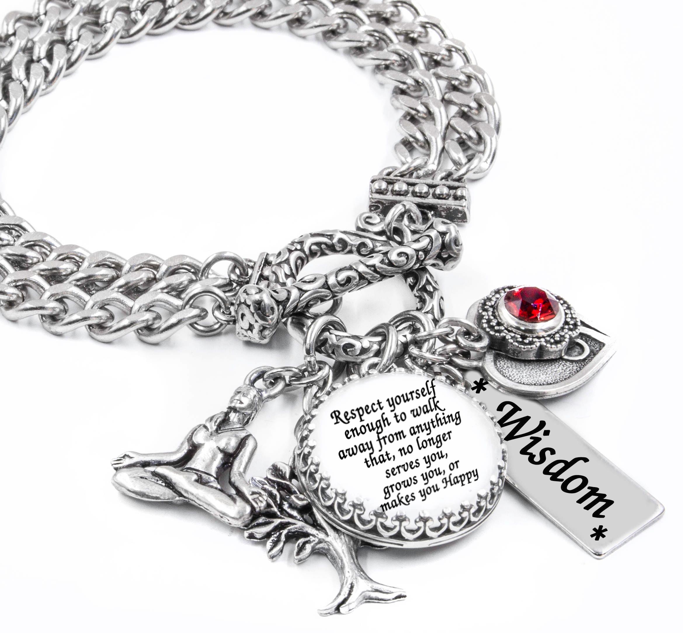 Inspirational Bracelet Silver Inspirational Jewelry