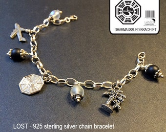 LOST Dharma Charm 925 Sterling Silver Bracelet - One only!  (etsy)