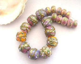 20 Handmade Lampwork Beads