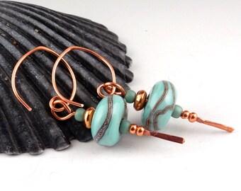 Handmade Lampwork Glass Bead Earrings, artist lampwork, lampwork glass bead, lampwork earrings, lampwork jewelry, sra lampwork