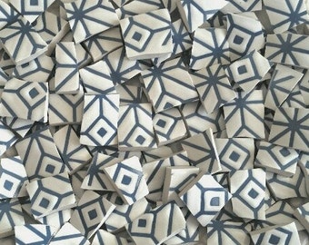 Mosaic Tiles--Geometrical Blue  Design -66 pieces.  Ready to Rock your Mosaic
