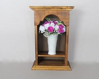 Vintage Shelf, Display Shelf, Shadow Box, Rustic Wood Shelf, Display Box, Wall Shelf, Farmhouse Shelf