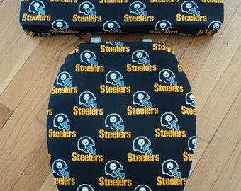 Pittsburgh Steelers Toilet Seat Cover Set