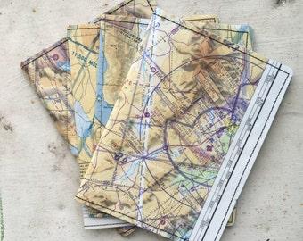 Passport Holder- Vintage '60's Aeronautical Map of Nevada- choose 1