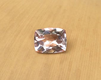 Natural Genuine Morganite - ONE Rectangular Cushion shape Pink Morganite Loose Gemstone averaging 7x9mm, 1.78 carats minimum - LSG407