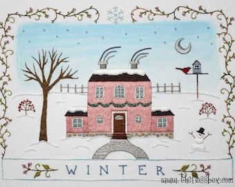 Winter Embroidery Pattern