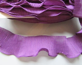 Chiffon Ruffle Pleated Trim many colours to choose Purple Blue Black White Red