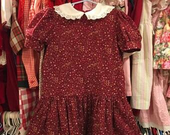 80s Drop Waist Dress Girls 5/6