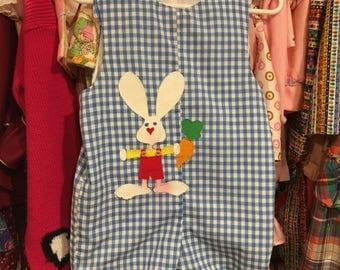 Gingham Bunny Romper 3T