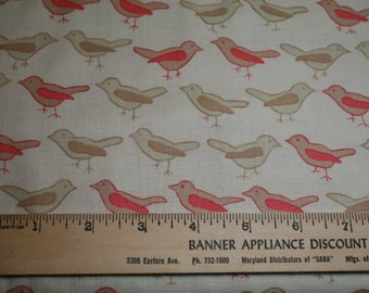 Birds in Twig from the Nest collection by Valori Wells for Free Spirit vw26-twig by the fat quarter or half yard
