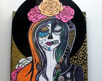 Saint Biafra mixed media original art