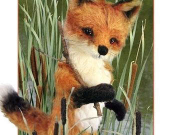 ON SALE Fox Sewing Pattern, Mohair Fox PDF, Diy Fox Pattern, Teddy Bear Pattern, Stuffed Animal Pattern, Fox Plushie, Diy Stuffed Animal, Wo