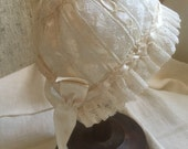 Heirloom Baby Bonnet, Beautiful Handmade Lace