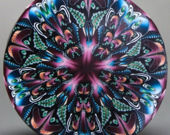 JUMBO Kaleidoscope Polymer Clay Cane -'Dark Eden' (49cc)