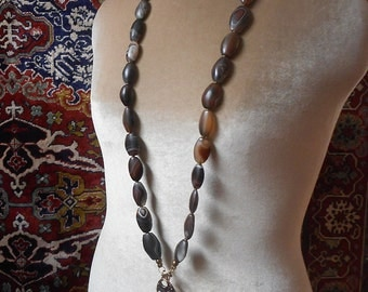 Botswana Earth Mother necklace. Artistic, organic design. Exquisit beads CLEARANCE