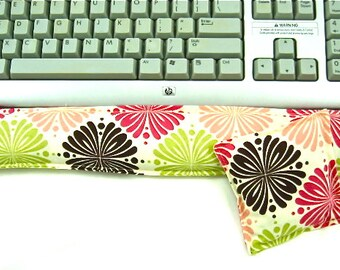 Tech Gifts:  Keyboard Wrist Rest Support for Keyboard, Mouse Pad, Computer Hot Cold Pack, Wrist Pad, Desk Set,