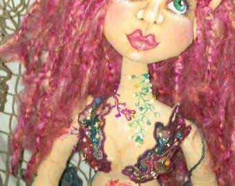 Merlisse - A Cloth Art Mermaid by Liz Parent