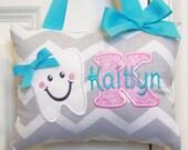 Tooth Fairy Pillow - Gray Chevron