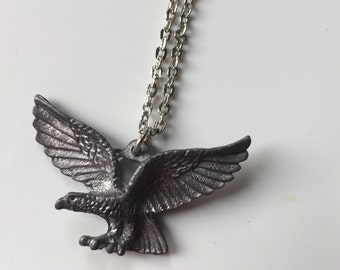 SALE! Vintage Eagle Pendant & Necklace