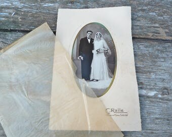 Vintage 1920 French wedding photography