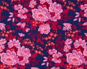 YARD - Joel Dewberry Fabric, Flora, Rose Bouquet in Orchid  cotton quilting fabric -  SALE