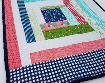 Baby Gooseberry Quilt with Minky Back and Binding