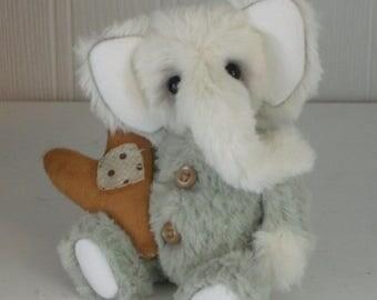 "OOAK artist made elephant ""Filip"" - JRB Creations"