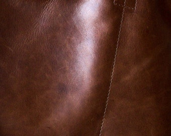 Premium Chestnut - rich vegetable tanned leather - choose this leather for selected bags or purchase a swatch
