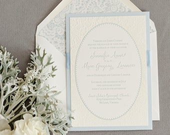 Wedding Invitation - SAMPLE - Jennifer's Letterpress Lace