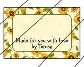 RESERVED for Teresa Perkins - 50 Personalized Tie-On Tags