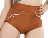 Rosemary Western Cowgirl Bikini Bottom in Copper