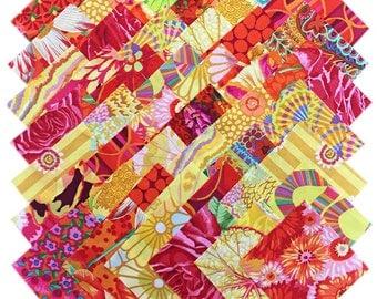 "SQ77 Kaffe Fassett Philip Jacobs SUNSHINE Precut 5"" Fabric Quilting Cotton Squares Westminster Fibers"