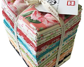 SALE 20% Off Robyn Pandolph Mon Cheri Fat Quarter Bundle 39 Precut Cotton Fabric Quilting FQs RJR