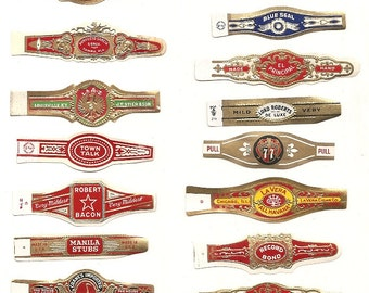 180 CIGAR BAND Labels -new old stock cigar bands  1930 +TOBACCO Due to the continuing Ofac sanctions against Cuba origin of labels from u.s.