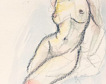 Watercolor figure drawing I