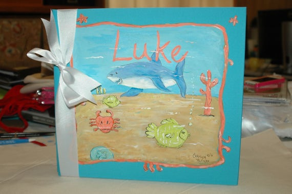 Little Beach Baby Baby Memory Book with Shark