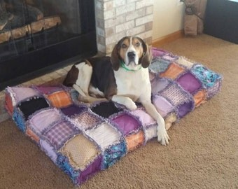 Custom Order Ashlawnfarms Rag Quilt Dog Cat Pet Bed XXX LARGE size